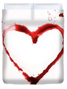 Heart Shape From Splaches And Blobs Duvet Cover