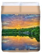 Heavenly Reflections In The Hill Country Duvet Cover