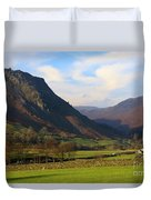 Helm Crag And Wythburn Fells Above Grasmere In The Lake District Duvet Cover