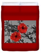 Hibiscus Selective Color Duvet Cover