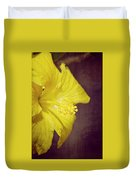 Hibiscus Yellow Duvet Cover by Carolyn Marshall