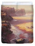 Hidden Path To The Sea Duvet Cover