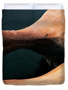 High Angle View Of A Pothole Arch Duvet Cover