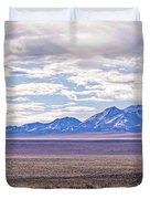High Plains And Majestic Mountains Duvet Cover