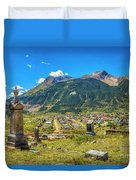 Hillside Cemetery Of Silverton Colorado Duvet Cover