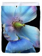 Himalayan Blue Poppy Duvet Cover