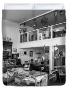 Hindsman General Store - Allensworth State Park - Black And White Duvet Cover