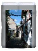 historic cobbled lane in Beilstein Germany Duvet Cover