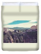 historical village of Ronda, Spain Duvet Cover by Ariadna De Raadt