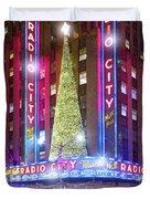 Holiday Season At Radio City Music Hall  Duvet Cover