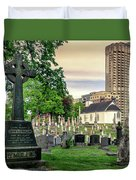 Holy Cross Cemetery And Our Lady Of Sorrows Chapel Duvet Cover