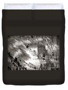 Hoodoo's Black White Utah  Duvet Cover