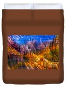 Hoodoo's Rainbow Color Mix Bryce Canyon  Duvet Cover