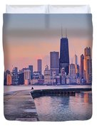 Hook Pier - North Avenue Beach - Chicago Duvet Cover