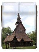 Hopperstad Stave Church Replica Duvet Cover