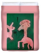 Horse And A Rabbit Duvet Cover