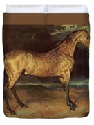 Horse In The Storm 1821 Duvet Cover