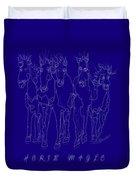 Horse Magic Line Drawing Horse Silhouette Design Duvet Cover