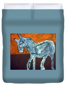 Horse On Orange Duvet Cover
