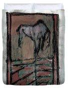 Horse Stables Duvet Cover