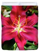 Hot Pink Day Lily Duvet Cover