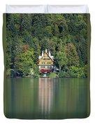 House On The Lake Duvet Cover by Davor Zerjav