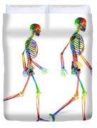 Human Skeleton Pair Duvet Cover