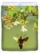 Hummingbird Hawk-moth Duvet Cover