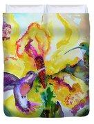 Hummingbird Song Watercolor Duvet Cover
