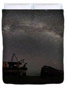 Hurkett Shipwrecks On A Late June Night Milky Way Arch Pano Duvet Cover