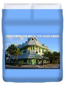 Hurricane Restaurant St. Pete Beach Duvet Cover