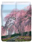 Weeping Spring Cherry  Duvet Cover