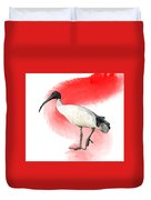 I Is For Ibis Duvet Cover