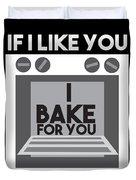 I Love Baking Bake Funny Baker Gift Duvet Cover