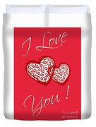 I Love You Hearts Duvet Cover