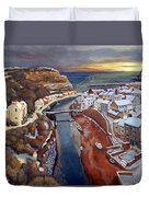 I Saw Three Ships Come Sailing In, On Christmas Day In The Morning. Duvet Cover