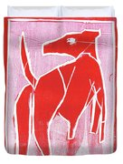 I Was Born In A Mine Red Dog 34 Duvet Cover