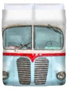Ice Cream Food Truck Metro Van Duvet Cover