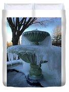 Ice Fountain Duvet Cover