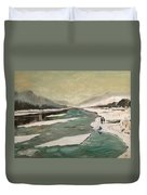Icey River Duvet Cover