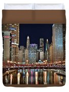 Iconic Night View Down The River Duvet Cover