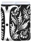 Illuminated Letter L Duvet Cover