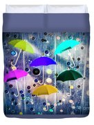Imagination Raining Wild Duvet Cover