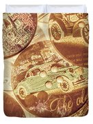 In Fashion Of Classic Cars Duvet Cover