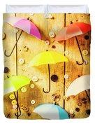 In Rainy Fashion Duvet Cover