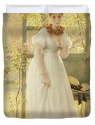 In The Walled Garden, 1869 Duvet Cover