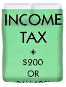 Income Tax Duvet Cover