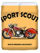 Indian Sport Scout 1940 Duvet Cover by Mark Rogan