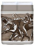 Interaction Duvet Cover by Judith Kunzle