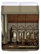 Interior Of The Oude Kerk  Amsterdam  Duvet Cover